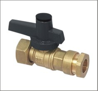 Brass Water Valve Reduced Bore For Water Gas